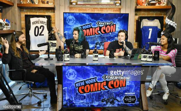 Tom Payne Danny Oelkers Pete Westwood and Cori Smith on the New York Comic Con special presented by Kraken Rum at Versa on October 7 2018 in New York...