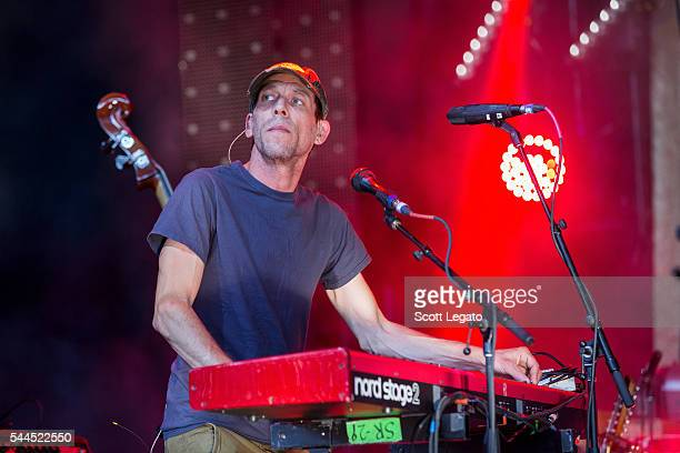 Tom Peloso of Modest Mouse performs at DTE Energy Music Theater on July 3 2016 in Clarkston Michigan
