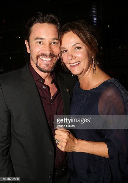 Tom Pelphrey and Margaret Colin pose at The Opening Night for the MTC production of Sam Shepard's 'Fool For Love' on Broadway at Urbo NYC on October...