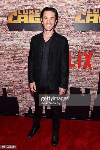 Tom Pelphrey attends the Luke Cage New York Premiere at AMC Magic Johnson Harlem on September 28 2016 in New York City