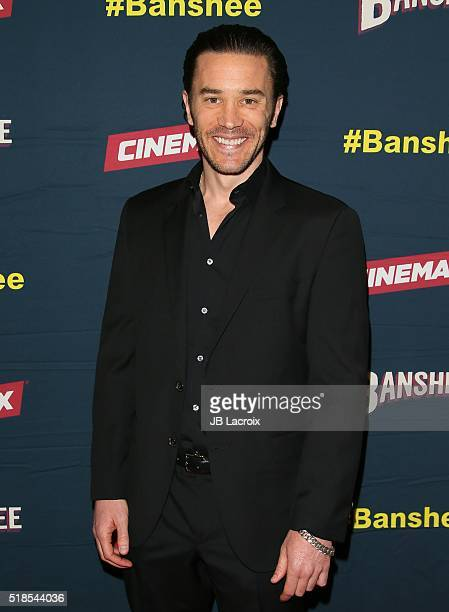 Tom Pelphrey attends the premiere of Cinemax's 'Banshee' 4th Season at UTA on March 31 2016 in Beverly Hills California