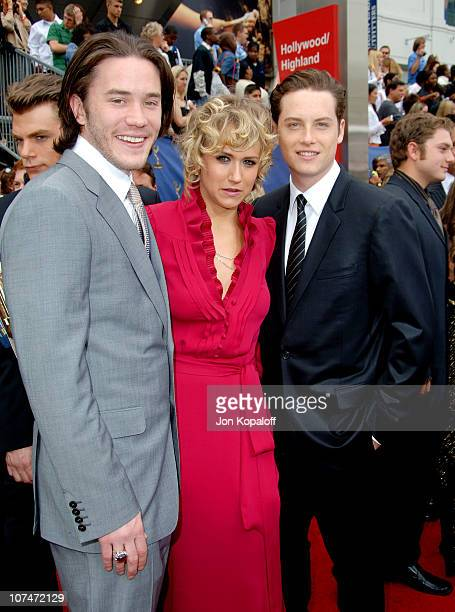 Tom Pelphrey Jennifer Landon and guest during 33rd Annual Daytime Emmy Awards Arrivals at Kodak Theater in Hollywood California United States