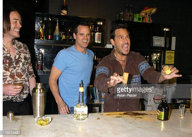 Tom Pelphrey Michael Park and Ricky Paull Goldin during Party for The Hot Men of CBS Guiding Light and As The World Turns which was filmed for David...