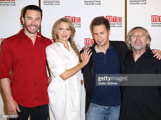Tom Pelphrey Nina Arianda Sam Rockwell and Gordon Joseph Weiss attend the meet and Greet for the cast of 'Fool for Love' at the Manhattan Theatre...