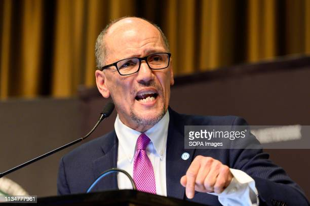 Tom Perez, Chairman, Democratic National Committee , at the National Action Network convention in New York City.