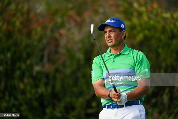 Tom Pernice Jr. Tees off on the 16th hole during the first round of the PGA TOUR Champions Allianz Championship at The Old Course at Broken Sound on...