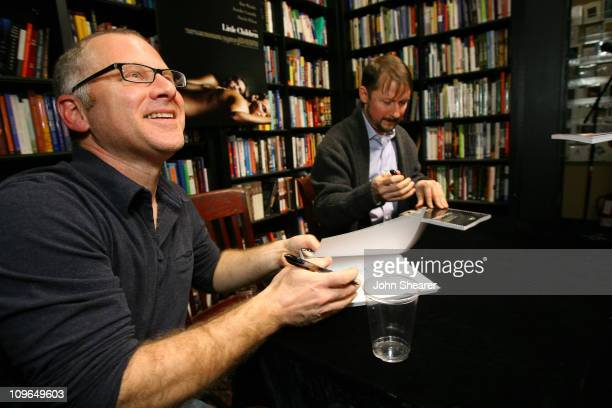 Tom Perrotta and Todd Field during Todd Field and Tom Perrotta Sign Little Children The Shooting Script at Book Soup in West Hollywood January 3 2007...