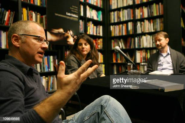 Tom Perrotta Carina Chocano and Todd Field during Todd Field and Tom Perrotta Sign Little Children The Shooting Script at Book Soup in West Hollywood...
