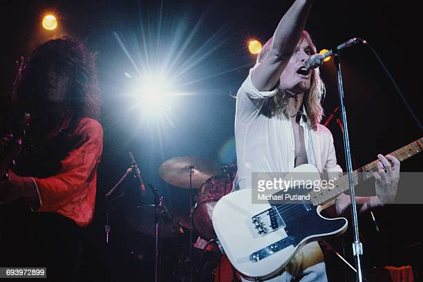 Tom Peterson and Robin Zander performing with American rock group Cheap Trick April 1979