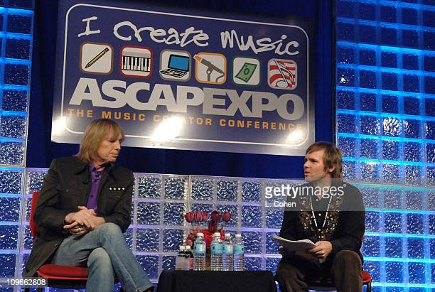 Tom Petty and Erik Philbrook during ASCAP EXPO April 2022 2006 in Hollywood CA United States