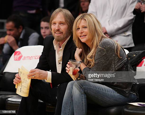 Tom Petty and his wife Dana York attend a game between the Los Angeles Clippers and the Los Angeles Lakers at Staples Center on February 25 2011 in...