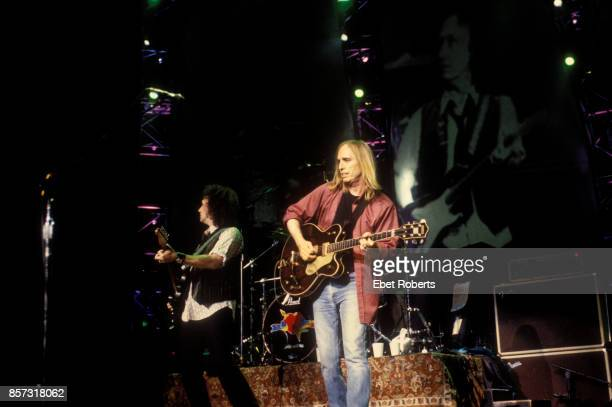 Tom Petty and Mike Campbell performing at Madison Square Garden in New York City on December 13 2002