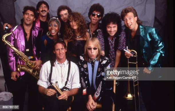 Tom Petty and the Heartbreakers are photographed on July 13 1985 at Live Aid at JFK Stadium in Philadelphia Pennsylvania CREDIT MUST READ Ken...