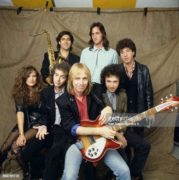 Tom Petty and the Heartbreakers are photographed on September 22 1985 at Farm Aid at Memorial Stadium in Champaign Illinois CREDIT MUST READ Ken...