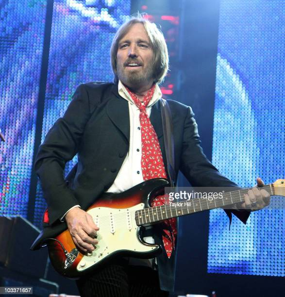 Tom Petty and the Heartbreakers perform at the Bridgestone Arena on August 12 2010 in Nashville Tennessee