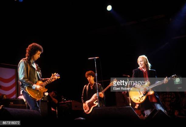 Tom Petty and the Heartbreakers performing at Farm Aid in Champaigne Illinois on September 22 1985