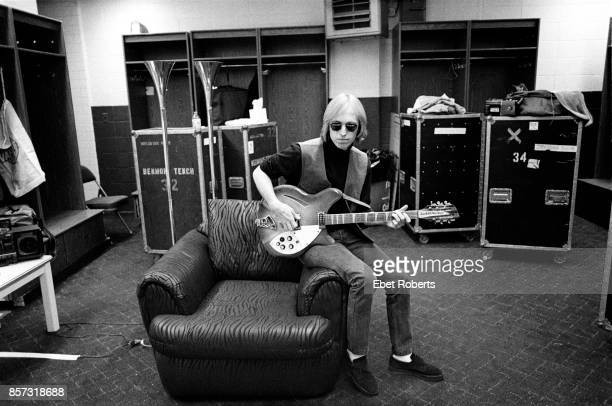 Tom Petty backstage at the Nassau Coliseum in Uniondale Long Island New York on January 31 1990