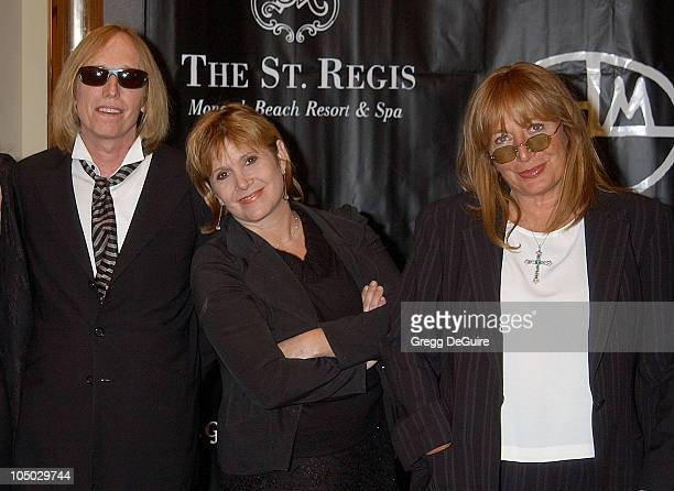 Tom Petty Carrie Fisher and Penny Marshall during 'Art for AIDS II' Benefit at St Regis Monarch Beach Resort Spa in Monarch Beach California United...
