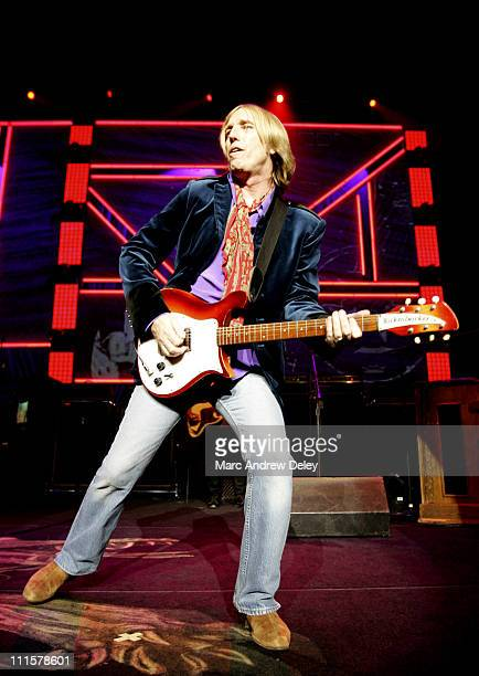 Tom Petty during Tom Petty and the Heartbreakers in Concert July 29 2005 at Tweeter Center in Mansfield Massachusetts United States