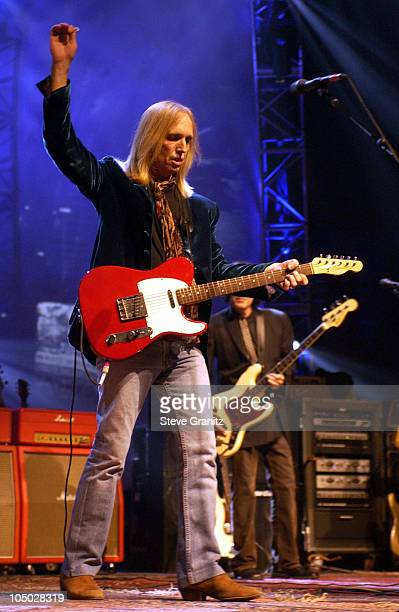 Tom Petty during Tom Petty and the Heartbreakers Tour 2002 Los Angeles at The Forum in Los Angeles California United States