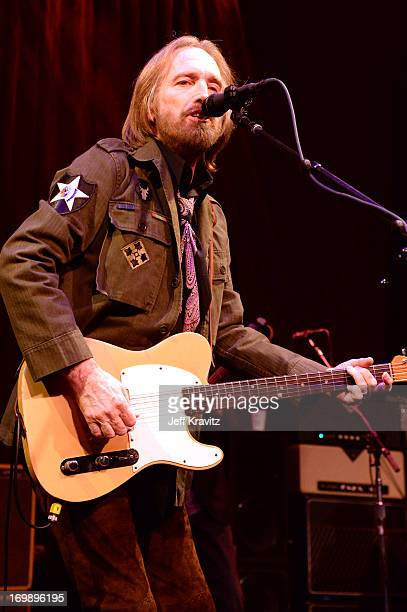 Tom Petty of Tom Petty And The Heartbreakers performs at The Fonda Theatre on June 3 2013 in Los Angeles California