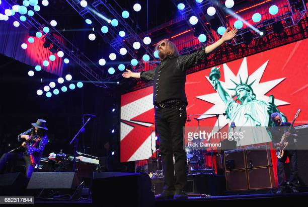 Tom Petty of Tom Petty and the Heartbreakers performs during their 40th Anniversary Tour at Bridgestone Arena on April 25 2017 in Nashville Tennessee