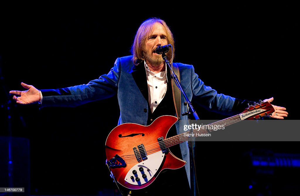 Tom Petty of Tom Petty and the Heartbreakers performs on the main stage on day 2 of The Isle of Wight Festival at Seaclose Park on June 22, 2012 in Newport, Isle of Wight.