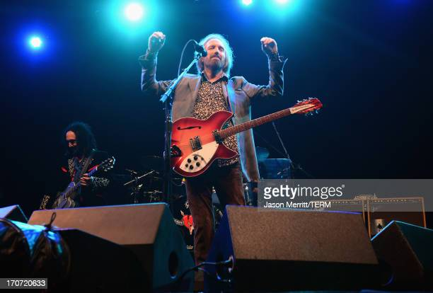 Tom Petty of Tom Petty and the Heartbreakers performs onstage at What Stage during day 4 of the 2013 Bonnaroo Music Arts Festival on June 16 2013 in...