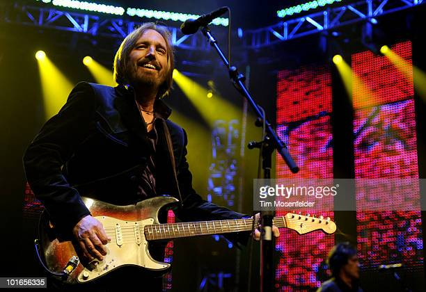 Tom Petty of Tom Petty The Heartbreakers performs in advance of the bands' Mojo release at Oracle Arena on June 5 2010 in Oakland California