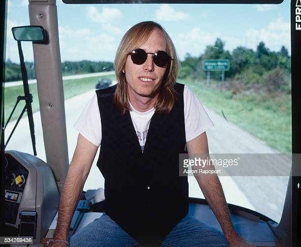 Tom Petty on the bus during his 1983 summer tour in Florida shot for Rolling Stone Magazine