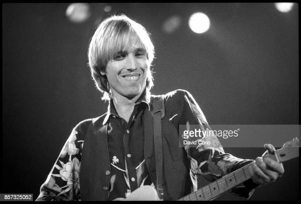 Tom Petty performing at Wembley Arena London 7 December 1982