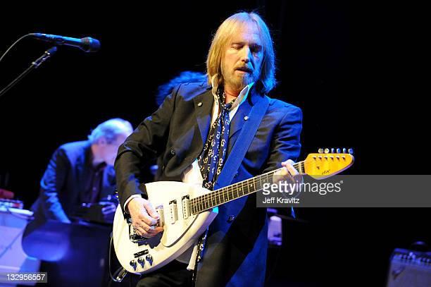 Tom Petty performs at California State University Northridge on October 29, 2011 in Northridge, California.