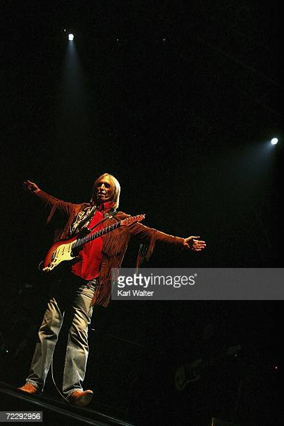 Tom Petty performs at the Vegoose music festival at Sam Boyd Stadium's Star Nursery Field on October 28 2006 in Las Vegas Nevada