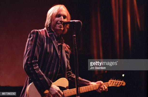 Tom Petty performs on the Strange Behavior Tour at the Met Center in Bloomington Minnesota on February 20 1990
