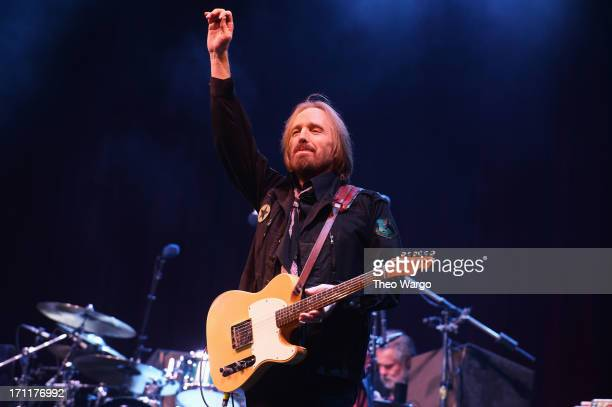 Tom Petty performs onstage at the Firefly Music Festival at The Woodlands of Dover International Speedway on June 22 2013 in Dover Delaware