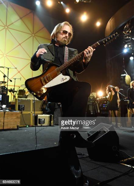 Tom Petty performs onstage during MusiCares Person of the Year honoring Tom Petty at the Los Angeles Convention Center on February 10 2017 in Los...