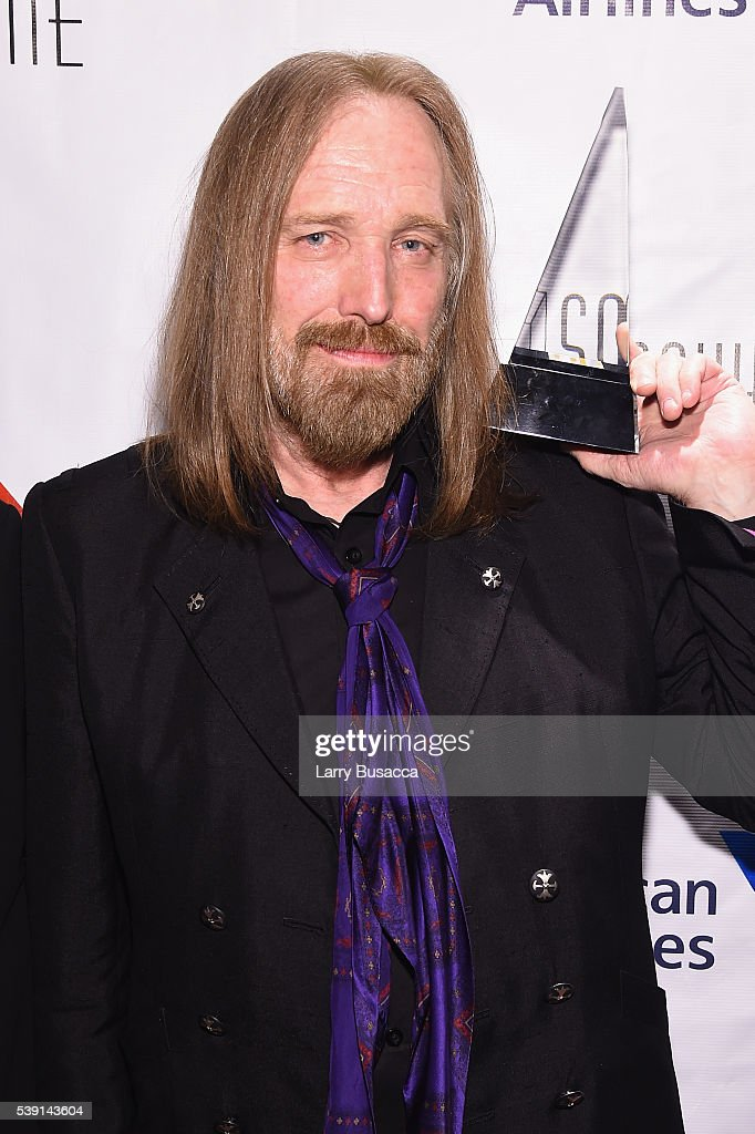 Tom Petty poses with award during Songwriters Hall Of Fame 47th Annual Induction And Awards at Marriott Marquis Hotel on June 9, 2016 in New York City.
