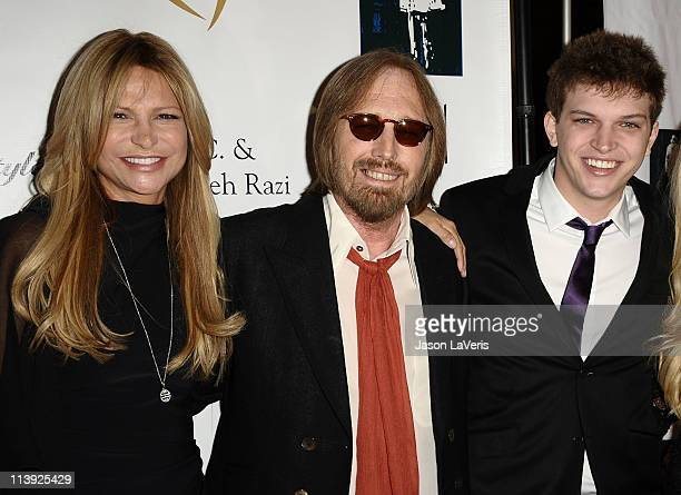 Tom Petty wife Dana Petty and son Dylan Petty attend the 11th annual Golden Heart Awards at The Beverly Hilton hotel on May 9 2011 in Beverly Hills...