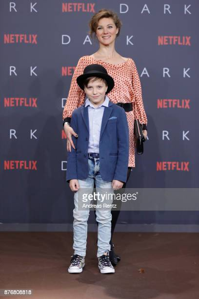 Tom Philipp Kloth and Cordelia Wege attend the premiere of the first German Netflix series 'Dark' at Zoo Palast on November 20 2017 in Berlin Germany