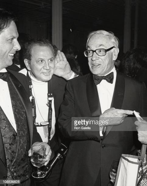 Tom Phillips Ron Galella and E Graden Carter during Spy Magazine Party for Separated at Birth Book October 26 1988 at Puck Building in New York City...