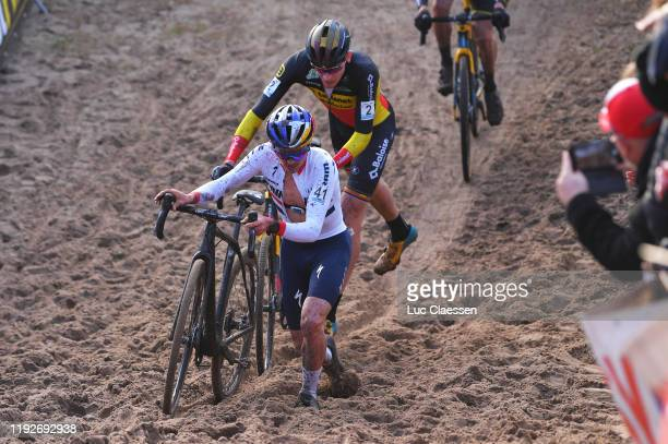 Tom Pidcock of United Kingdom and Team TP Racing / Toon Aerts of Belgium and Team Telenet - Baloise Lions / during the 24th Superprestige Zonhoven...