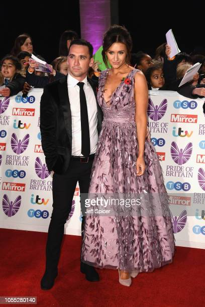 Tom Pitfield and Catherine Tyldesley attend the Pride of Britain Awards 2018 at The Grosvenor House Hotel on October 29 2018 in London England