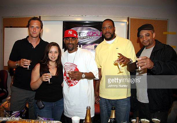 Tom Poleman SVP Programming Power 1051 fm and Clear Channel NYC Nadine Santos Music Dir of Power 1051 FM DJ Clue Ed Lover and Red Alert