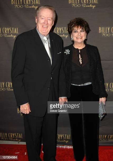 """Tom Poston and Suzanne Pleshette during Los Angeles Opening Night of The Tony Award Winning Broadway Show Billy Crystal """"700 Sundays"""" at Wilshire..."""