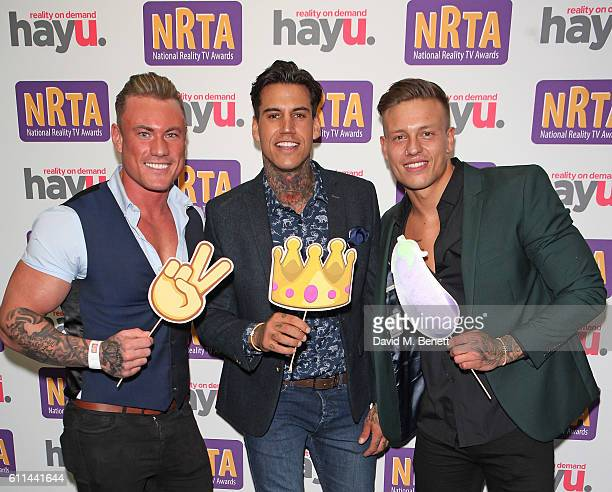 Tom Powell Terry Walsh and Alex Bowen attend the hayu National Reality TV Awards at Porchester Hall on September 29 2016 in London England