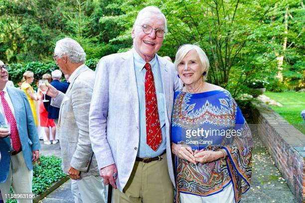 Tom Pulling and Lorna Goodman attend A Country House Gathering To Benefit Preservation Long Island on June 28 2019 in Locust Valley New York