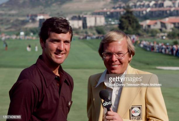 Tom Purtzer being interviewed by Verne Lundquist at the 1977 PGA Tournament of Champions ABC Sports coverage