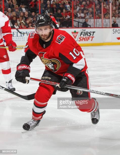 Tom Pyatt of the Ottawa Senators skates against the Detroit Red Wings at Canadian Tire Centre on October 7 2017 in Ottawa Ontario Canada