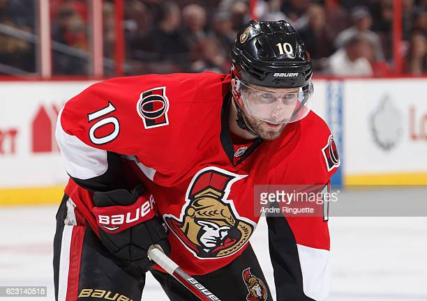 Tom Pyatt of the Ottawa Senators skates against the Los Angeles Kings at Canadian Tire Centre on November 11 2016 in Ottawa Ontario Canada