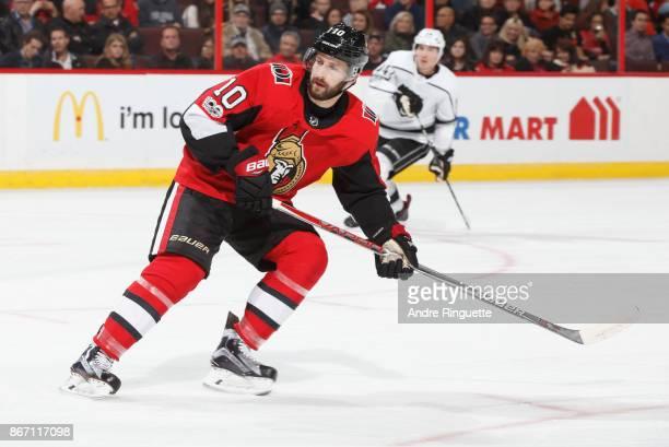 Tom Pyatt of the Ottawa Senators skates against the Los Angeles Kings at Canadian Tire Centre on October 24 2017 in Ottawa Ontario Canada